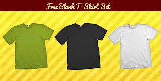 3 Free T-Shirt Template PSD