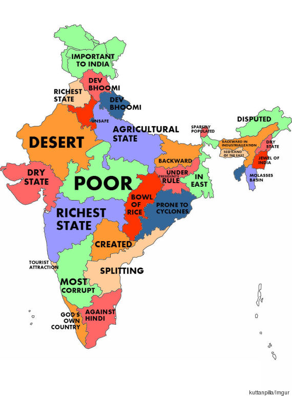 What the World thinks of Indian States, according to Google