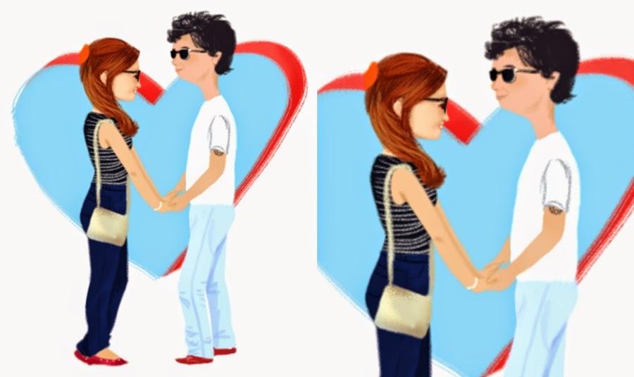 desenho de casal fofo