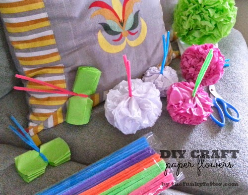 diy tissue paper flower craft tutorial for home decorating