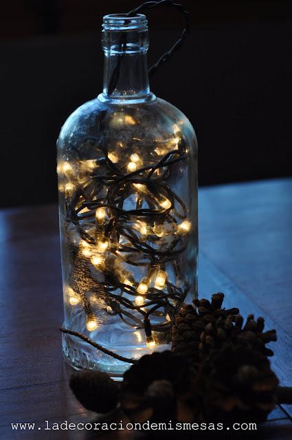 ideas para navidad botellas con luz