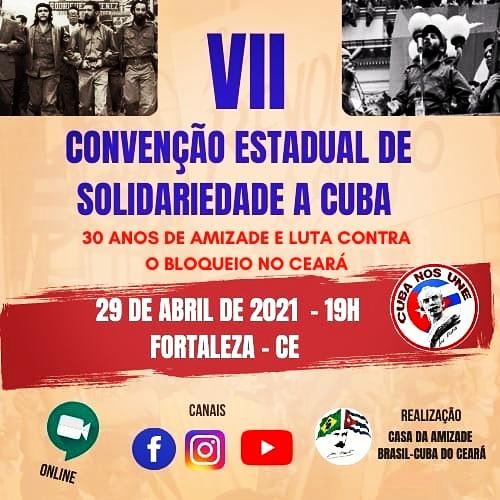 VII CONVENÇÃO ESTADUAL DE SOLIDARIEDADE A CUBA DO CEARÁ