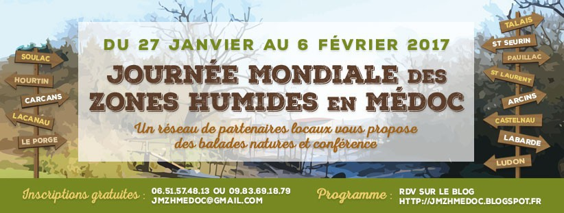 Journée Mondiale des Zones Humides en Médoc-Année 2017