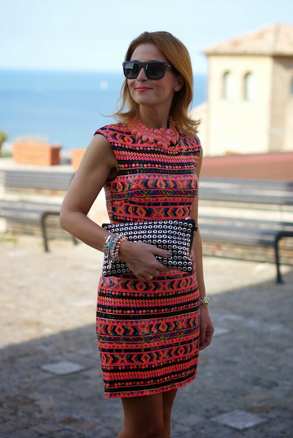 ethnic sequin dress, elegant outfit, Fashion and Cookies, fashion blogger