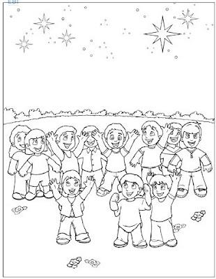 Dibujos para colorear - Abraham ~ EBI Mexico
