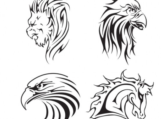 tattoo vector animal black and white vector