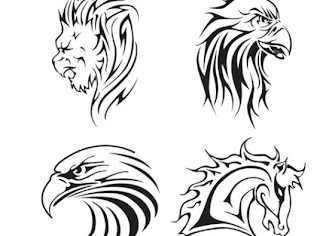 animal tatto vector, vector animal, eagle, lion, horse, vector, tatto, tato binatang, tato hewan, tatto elang, singa vektor, vector kuda, tatto vector, vektor tatoo