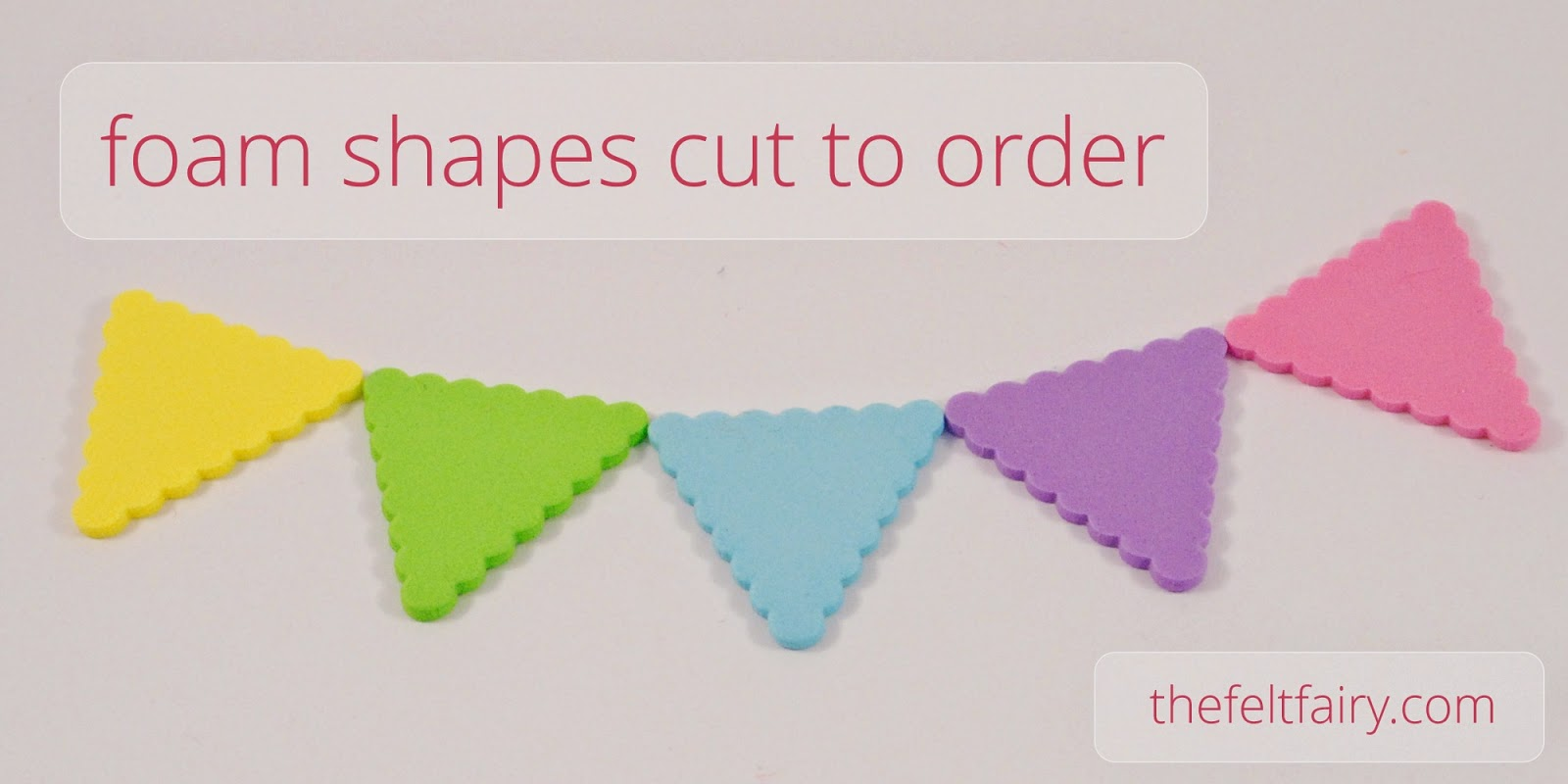Foam shapes choose from 13 colours