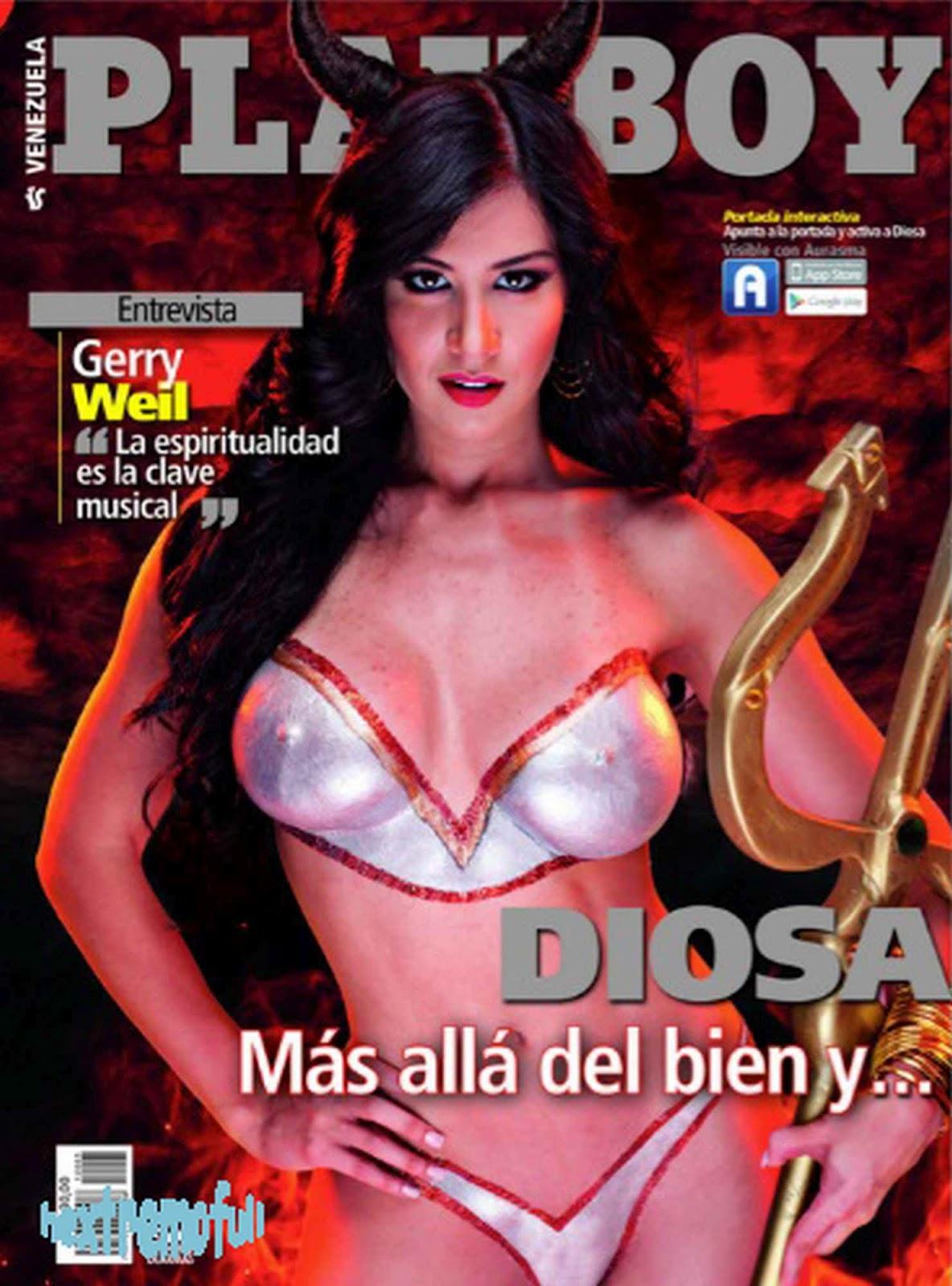 Diosa Canales en Playboy Venezuela