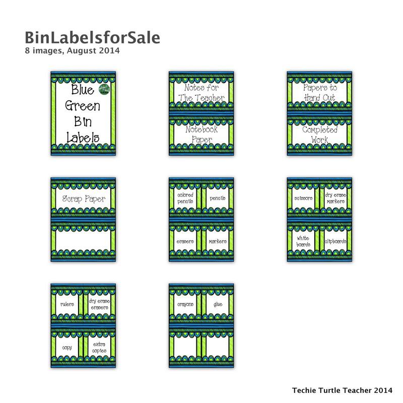 http://www.teacherspayteachers.com/Product/Classroom-Decor-Blue-Green-Bin-Labels-1378502