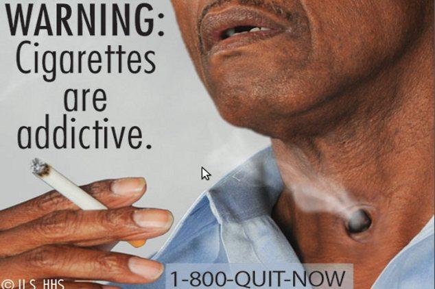 6 Gambar Seram di Bungkus Rokok AS