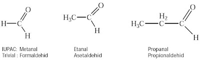 Formaldehid Asetaldehid Propionaldehid
