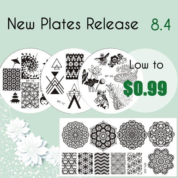 New stock Born Pretty Store stamping plates