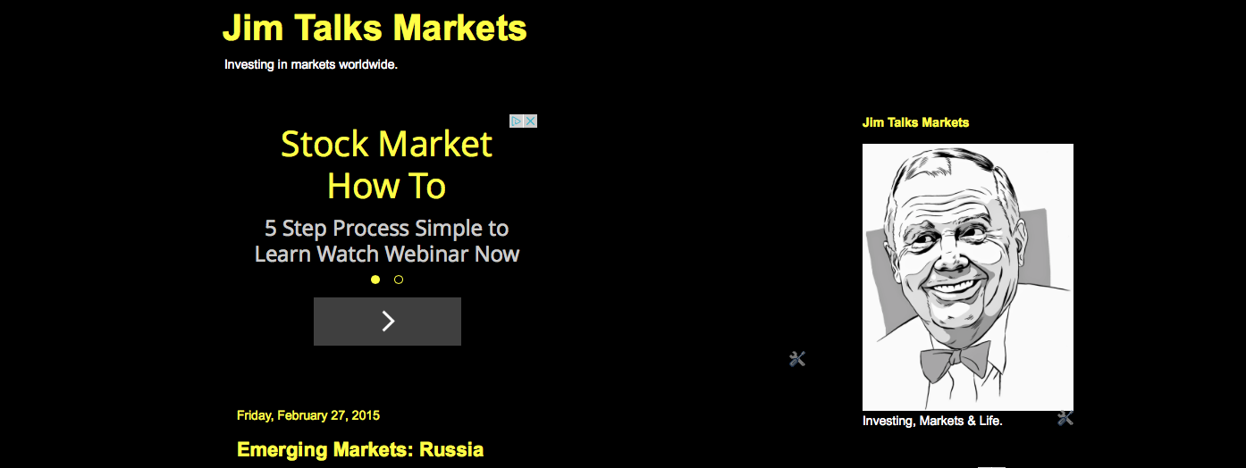 NEW WEBSITE: Jim Talks Markets
