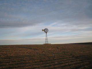 Old-fashioned windmill in Eastern Washington field