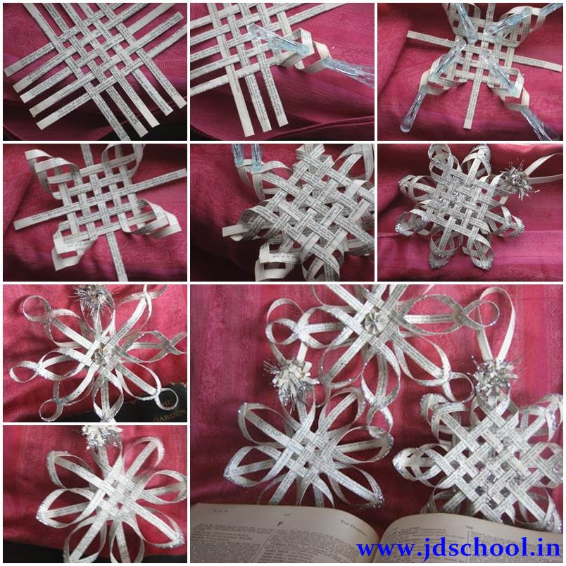 Creative ideas make 3d paper snowflake crazzy craft for Creative craft ideas with paper