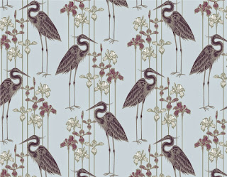 Judit Gueth Great Blue Heron Wallpaper in Plum