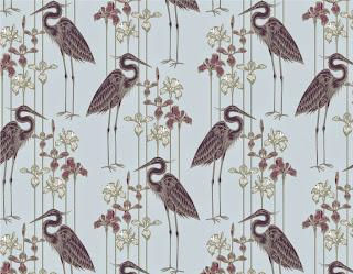 Judit Gueth Great Blue Heron Wallpaper in Plum