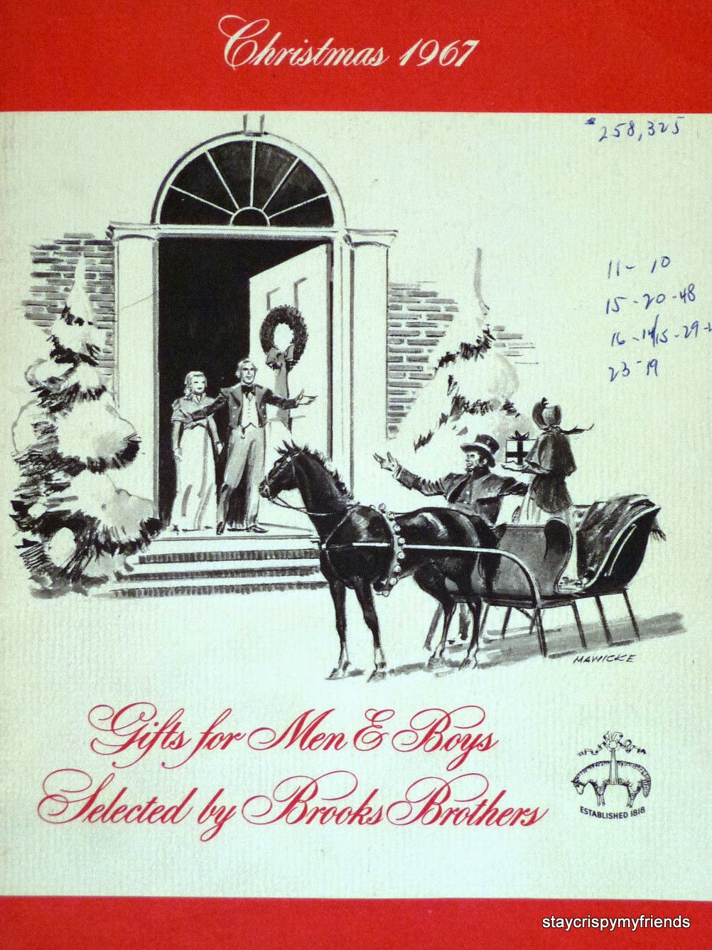 Brooks Brothers Vintage Holidays Catalogs