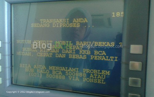 Gambar Proses Transaksi ATM BCA