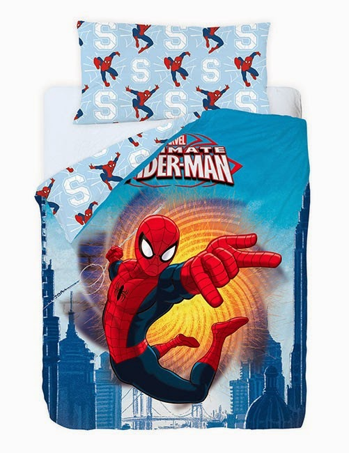 Spiderman Fire Gamanatura. Fundan nordica y Juego de sabanas Disney
