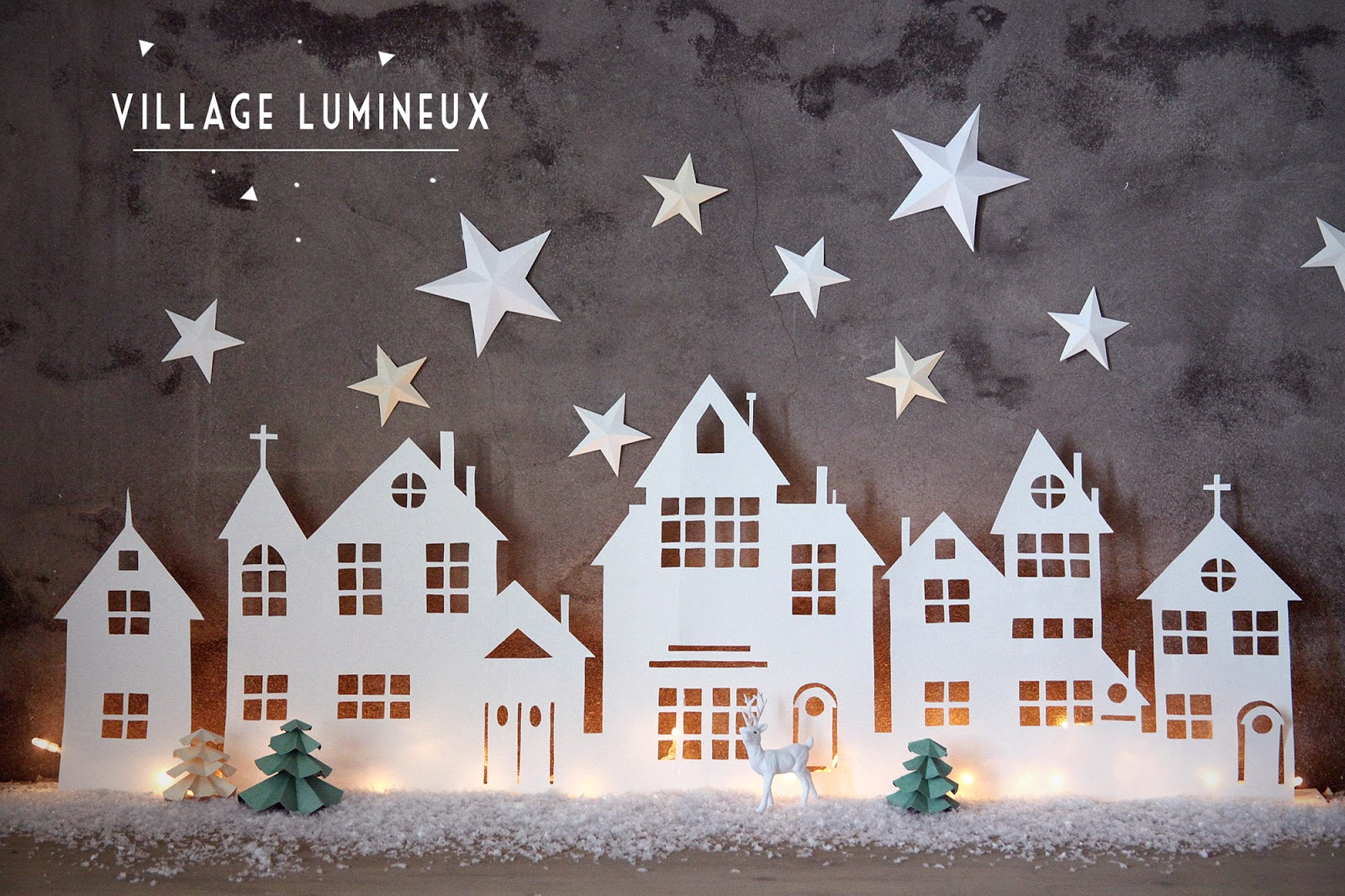 Diy village lumineux de no l for Decoration fenetre noel diy
