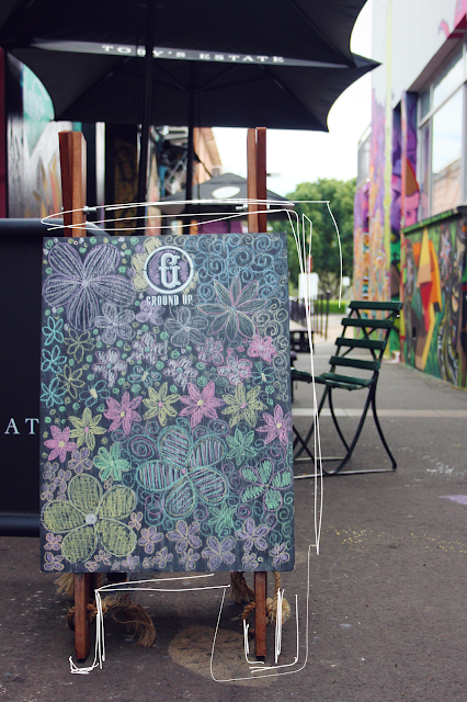 Blackboard, colorful chalk, cafe, Toowoomba, indie cafe, graffiti walls
