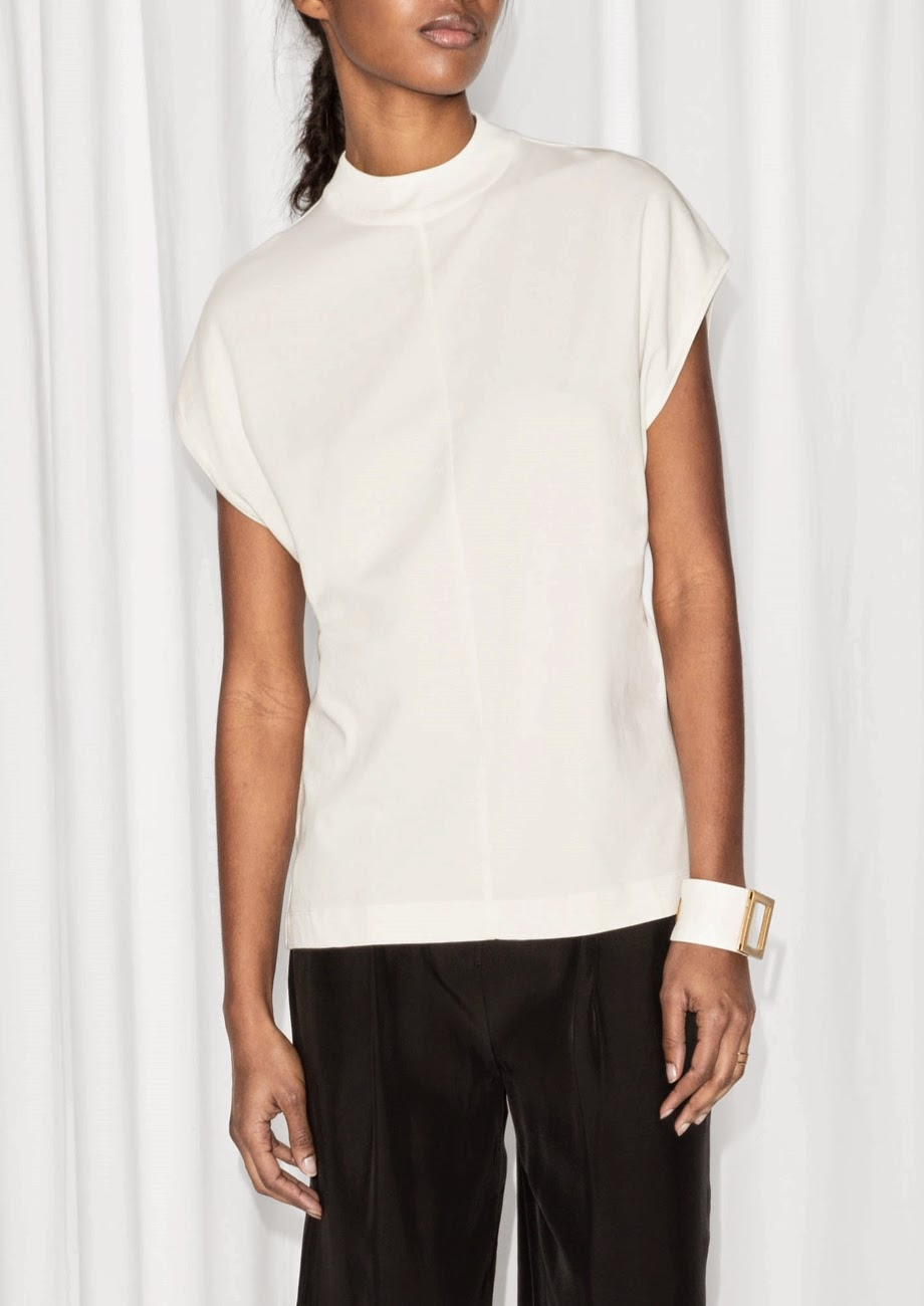 stories white top, white turtleneck top,