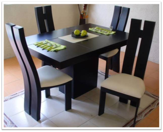 Muebles alvac for Comedor pequea o 4 sillas