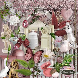 Free scrapbook romantic kit from Miriams-scrap
