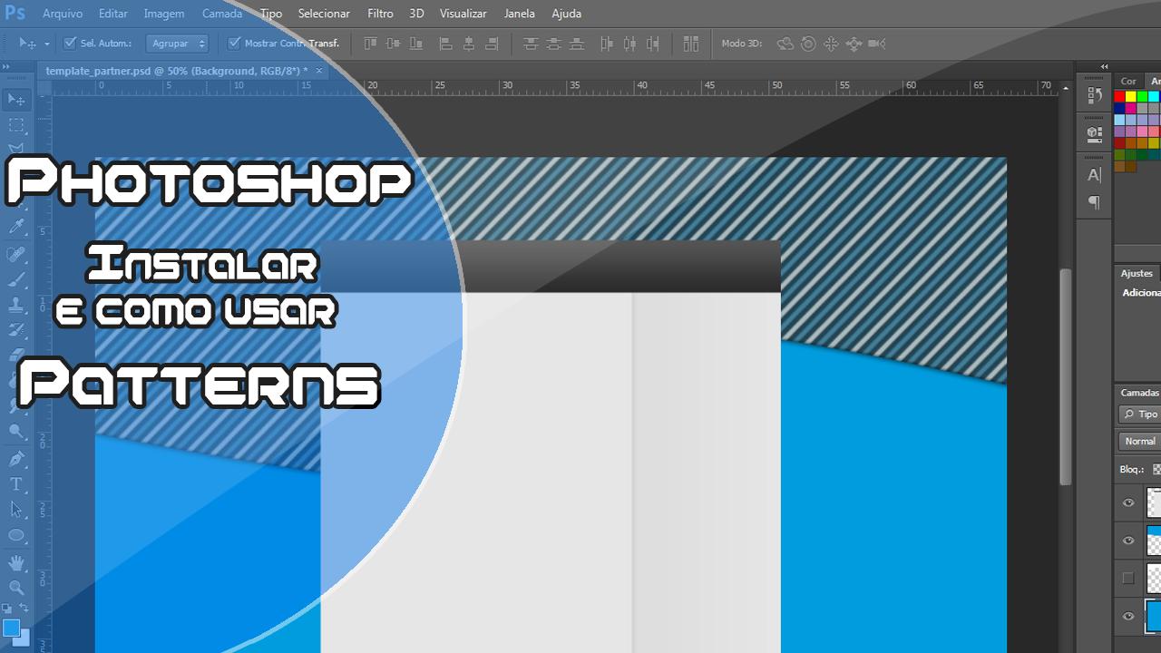 Photoshop como instalar e usar Patterns