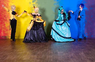 Tasha-Ren-Ricu-Saya Cosplay as Vocaloid Servants of Evil Miku-Rin-Len-Kaito