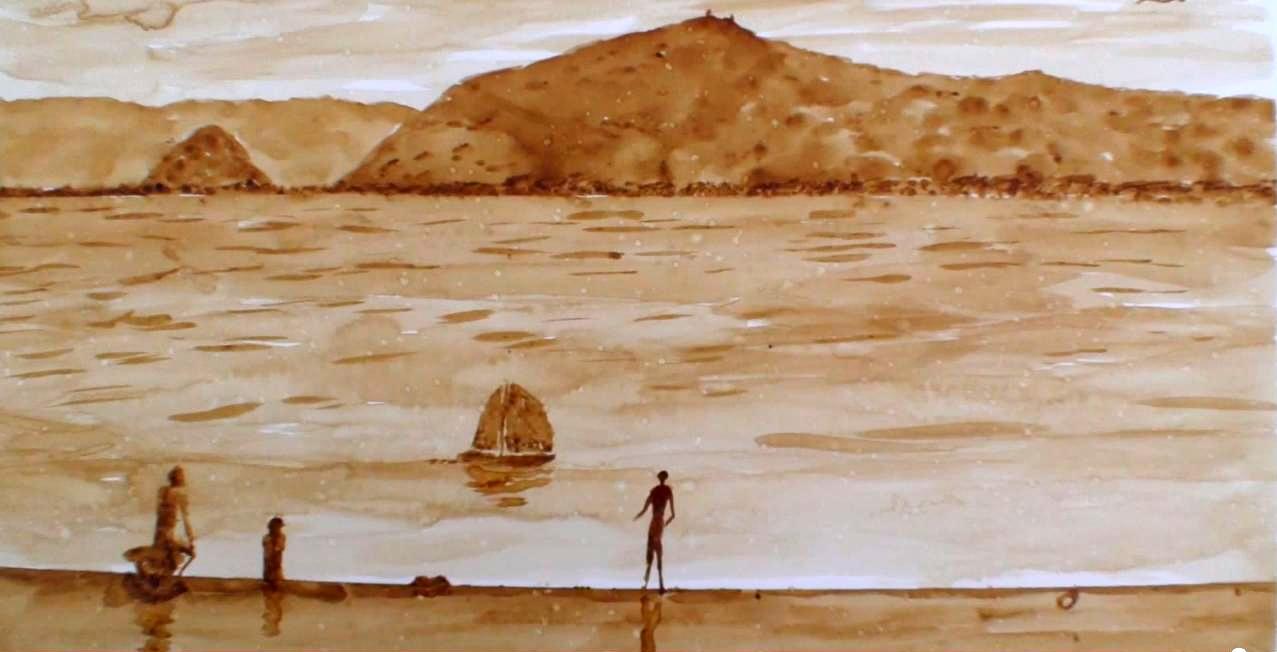 Pintando con Café
