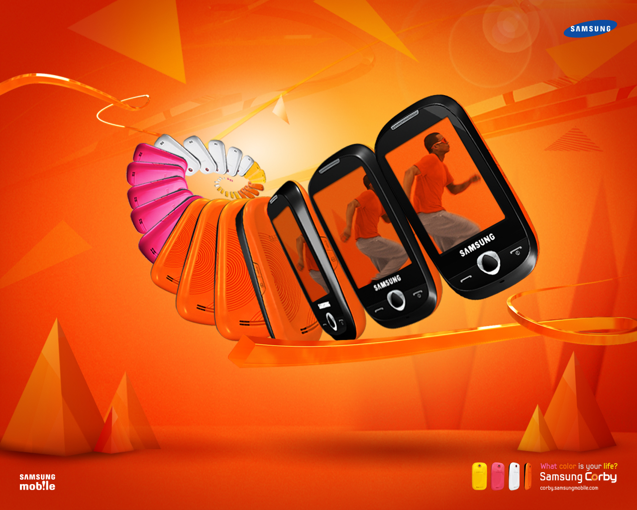 Celular Samsung CORBY II GT S3850 Amarelo