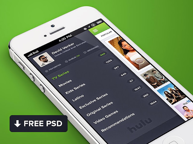 Ressources Webdesign du Lundi #008 by Iscomigoo Webdesign: template mobile Hulu