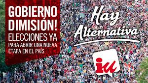 En España, en la Comunidad de Madrid y en Hoyo de Manzanares ¡hay alternativa!: IZQUIERDA  UNIDA