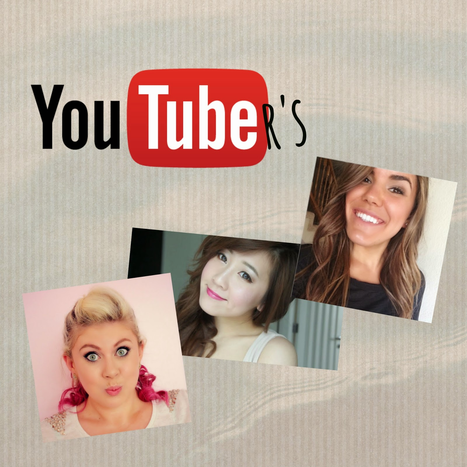 favourite youtubers. cambria joy, breelovesbeauty, breelovesvlogs. sprinkle of glitter, sprinkle of chatter, louise pentland, bubz beauty, bubz vlogs