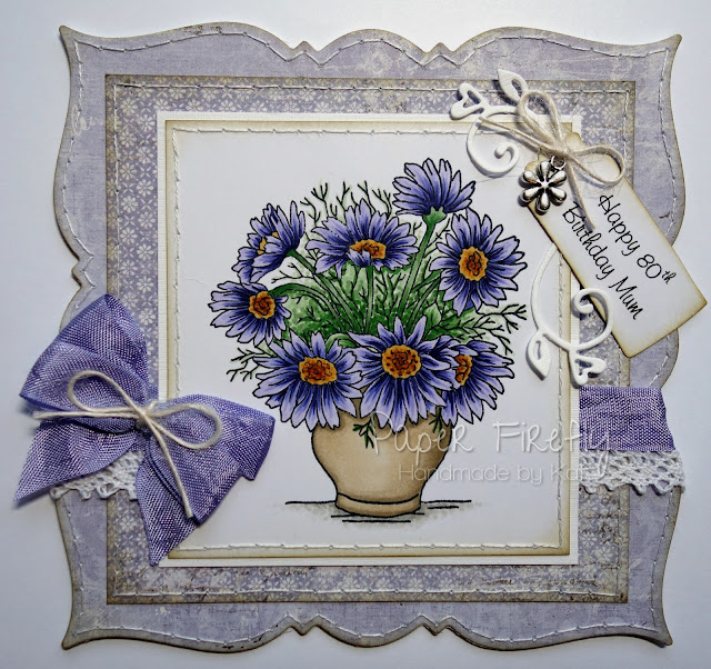 Lilac floral card featuring 'Summer Bunch' by LOTV