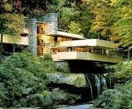 "TEMA nº 20.- ""La Casa de la Cascada o Casa Kaufmann"" -  Lloyd Wright - Organicismo"