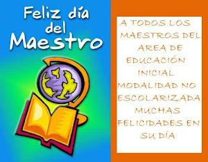 Un reconocimiento a la gran labor  de los educadores colombianos