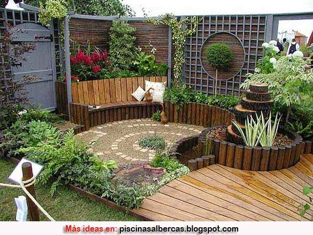 Dise o de jardines peque os terrazas y jardines fotos for Diseno jardines pequenos