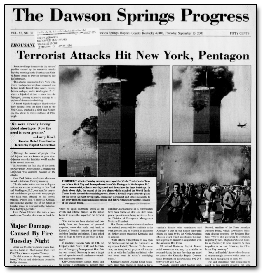 9/11 newspaper articles 2013