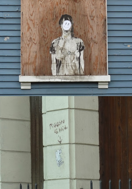 Pigeon,Bangor,Maine,Graffiti,Smiley