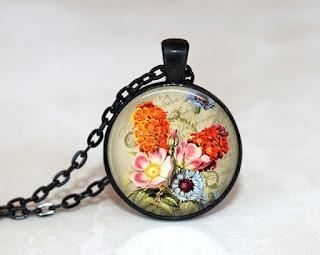 Digital Photo template for black pendant