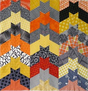 Block Party Halloween Quilt, free pattern by Kathy Mack at Pink Chalk Fabrics