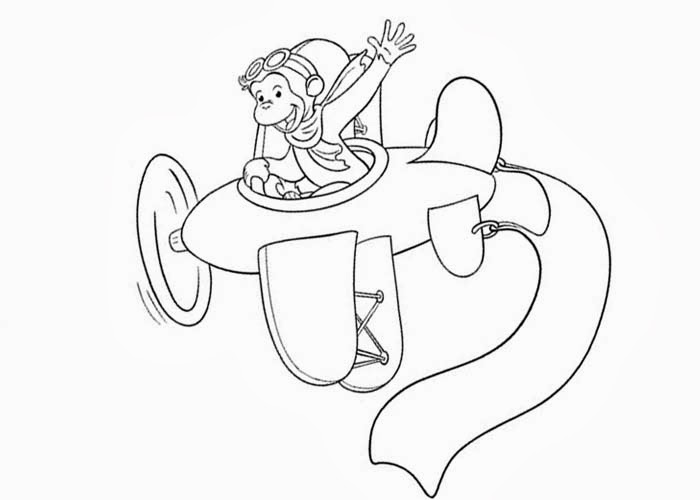 coloring pages of curious george - photo#17
