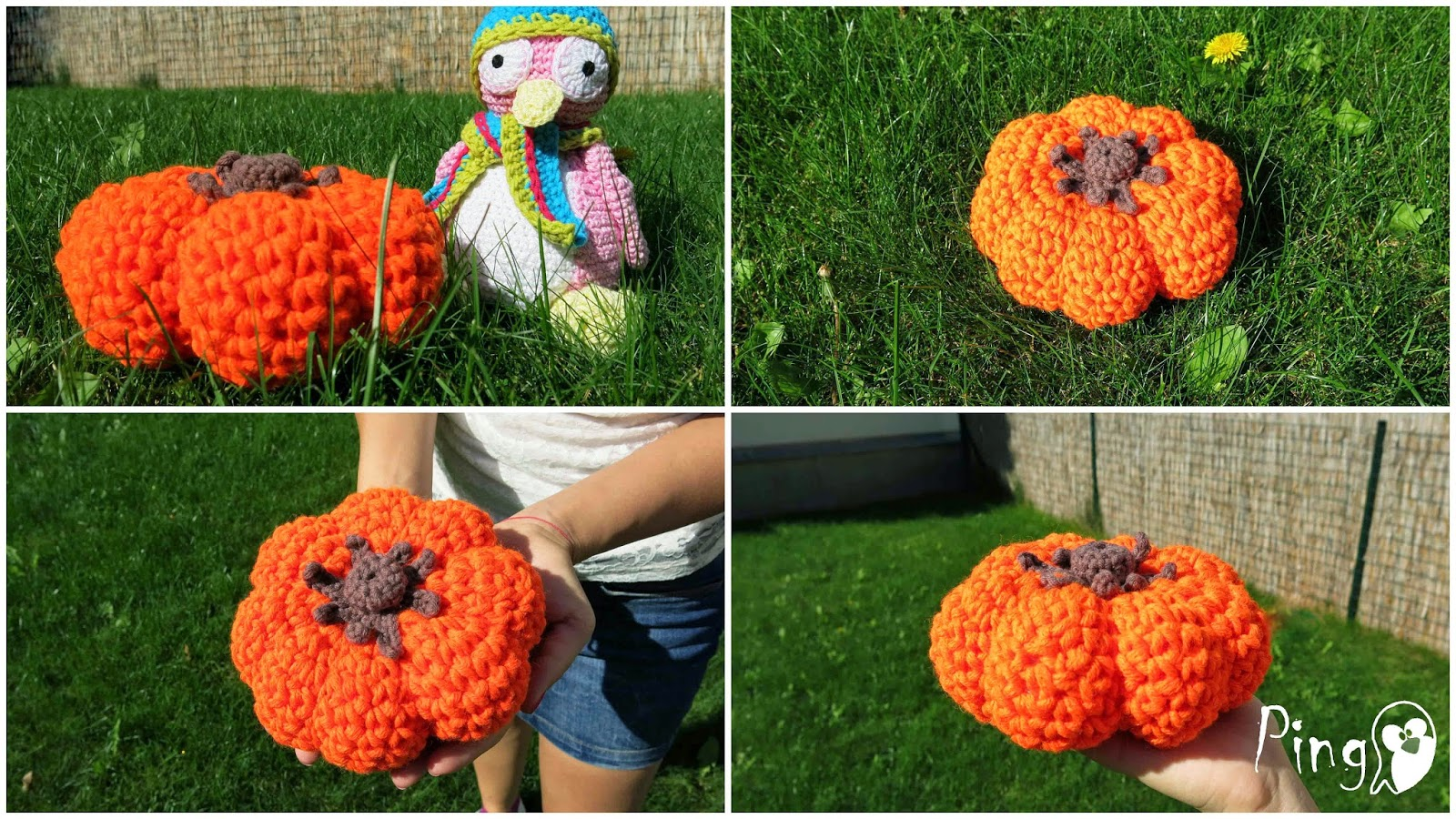 Halloween pumpkin - free crochet pattern
