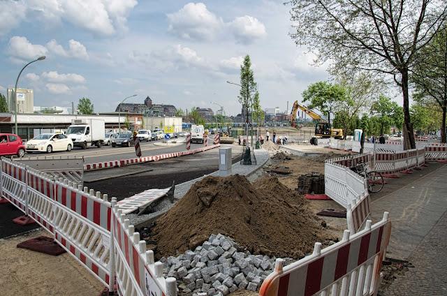 Baustelle Straßenbauarbeiten, Siemensstraße / Beusselstraße, 10551 Berlin, 23.04.2014