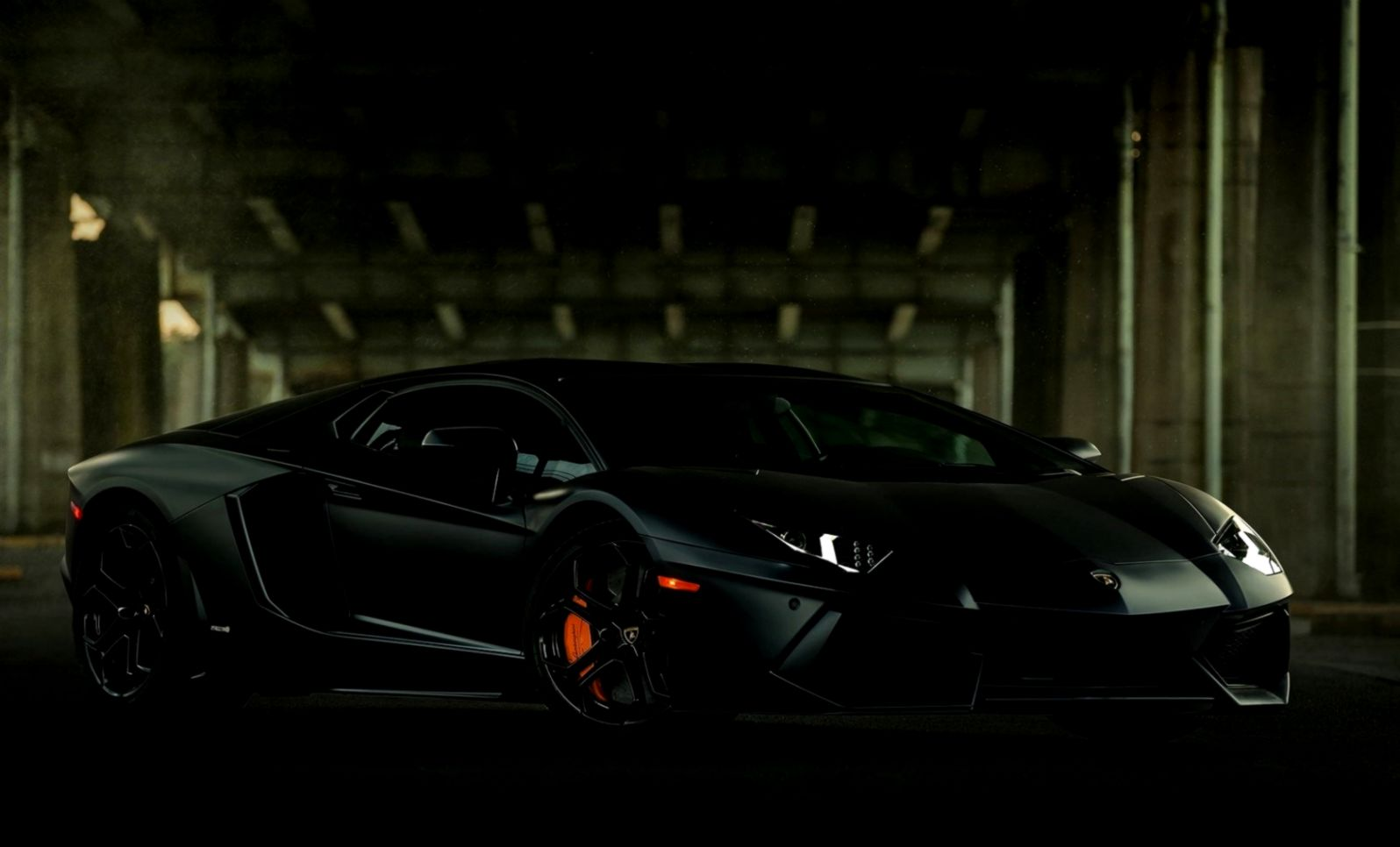 Lamborghini Aventador Roadster Matte Black   wallpaper