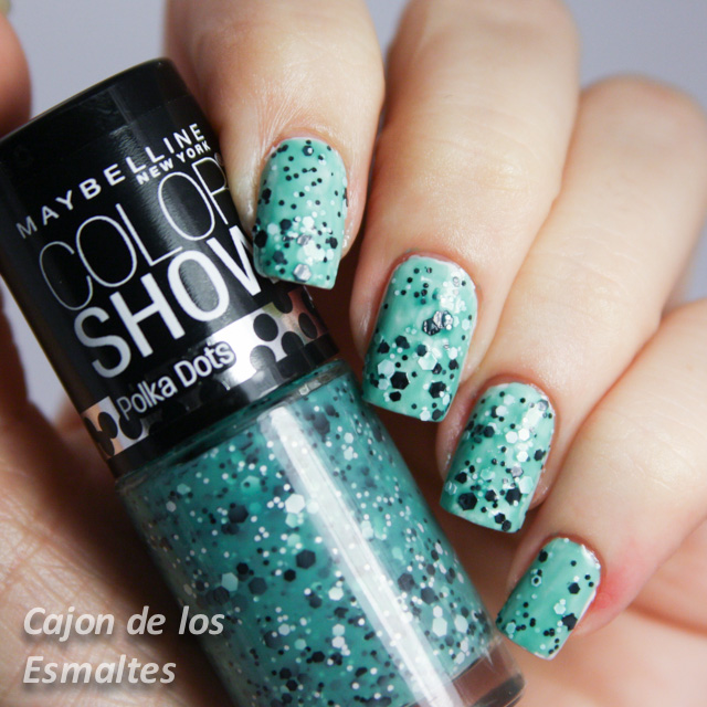 Maybelline Color Show - Polka Dots - drops of Jade